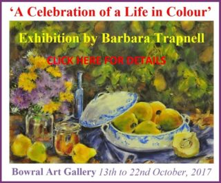 Exhibition by Barbara Trapnell - Ad
