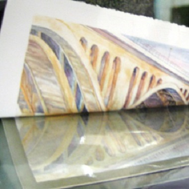 Photo of artwork used for printmaking