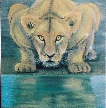 Pastel Painting by John Pattenden titled Lioness