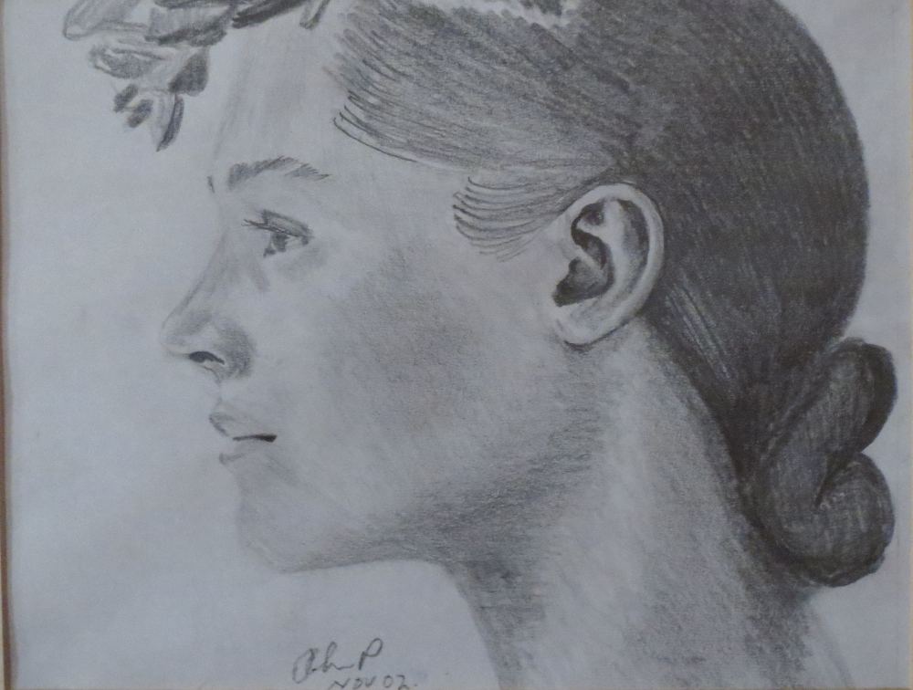 Pencil Painting by John Pattenden titled Study in Pencil