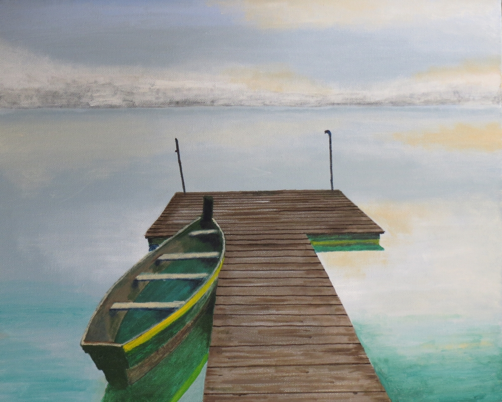 Acrylic Painting by John Pattenden titled Tranquility