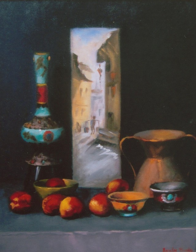 Oil Painting by Beverley Braddy titled A Little bit of Nepal