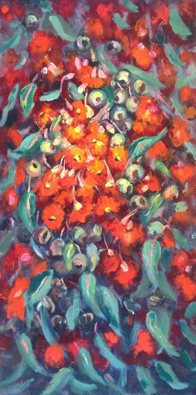 Painting by Lyn Ellis titled Coastal Gums