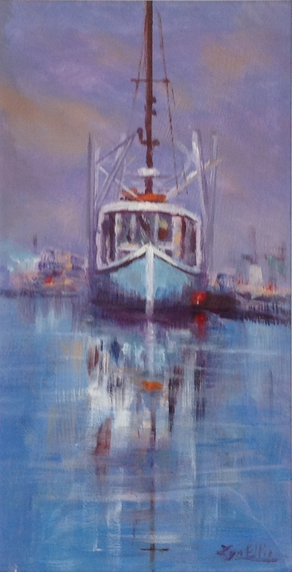 Painting by Lyn Ellis titled Day's Work Done
