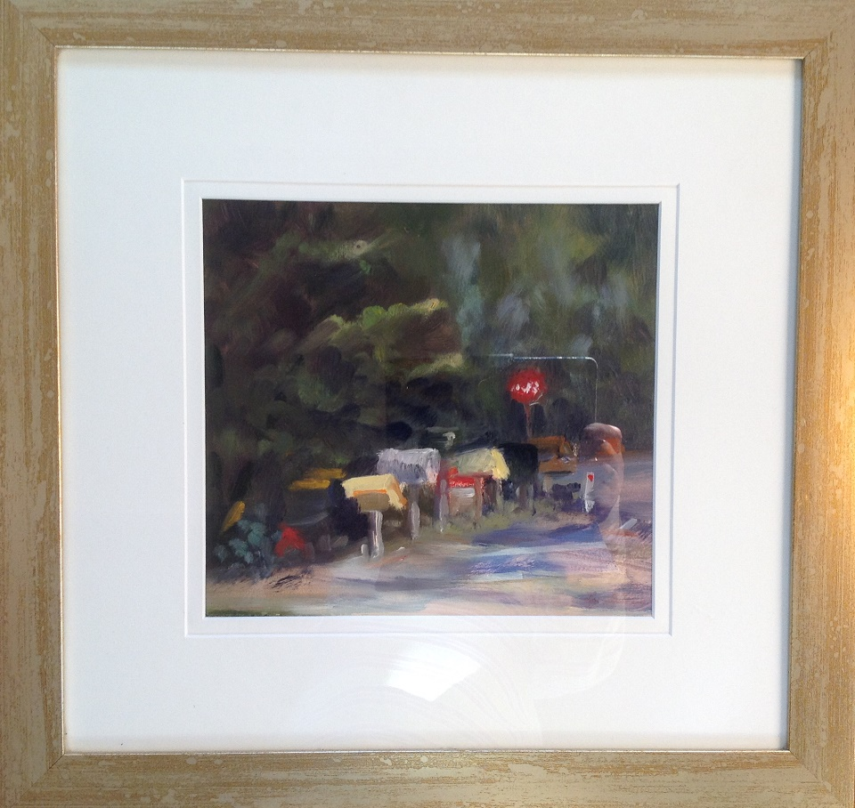 Oil Painting by Lyn Ellis titled Roadside Delivery