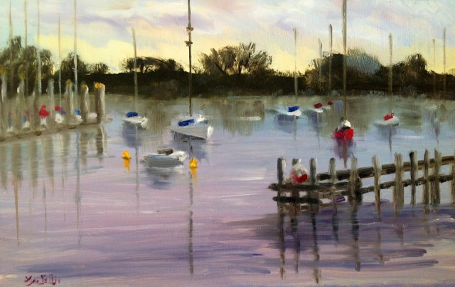 Painting by Lyn Ellis titled Morning Reflections