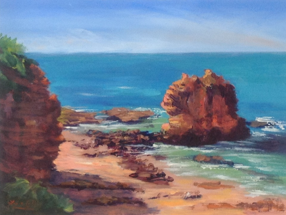 Acrylic Painting by Lyn Ellis titled Eagle Rock