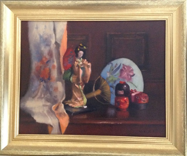 Oil Painting by Simone Phanthakoun titled Still Life - Oriental