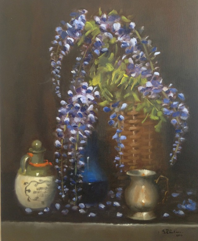 Oil Painting by Simone Phanthakoun titled Wisteria