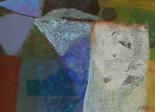 A Mixed Media painting by Marian Alexopoulos in the Abstract style  with main colour being Blue Cream and Grey and titled Sonnet