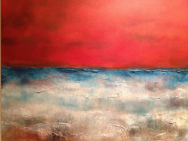 Acrylic Painting by Dawn Robinson titled Red Skies