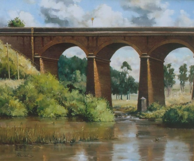 Oil Painting by Gregory R. Smith titled Malmsbury Viaduct