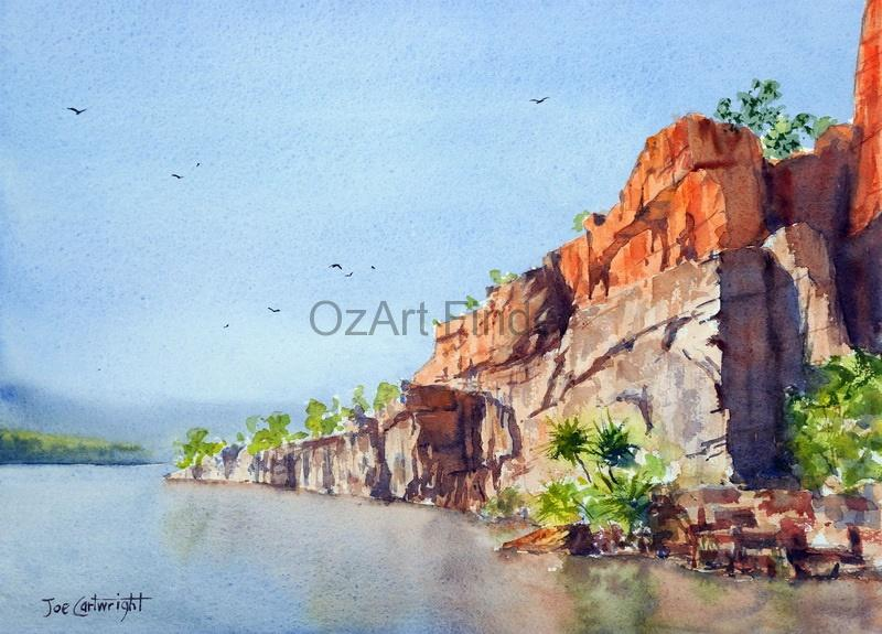 Watercolour Painting by Joe Cartwright titled Along the Ord River
