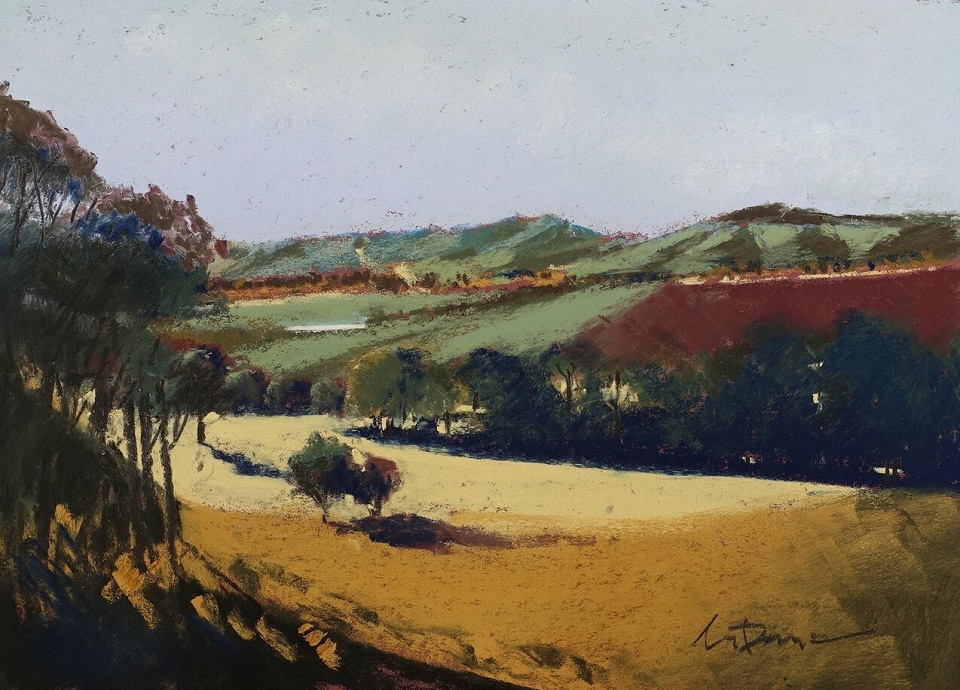 Pastel Painting by Lyle Dayman titled Barossa Gold