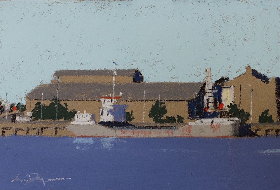Pastel Painting by Lyle Dayman titled Port River