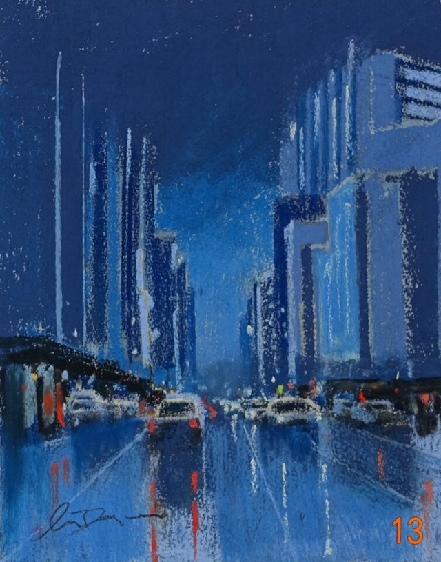 Pastel Painting by Lyle Dayman titled The City