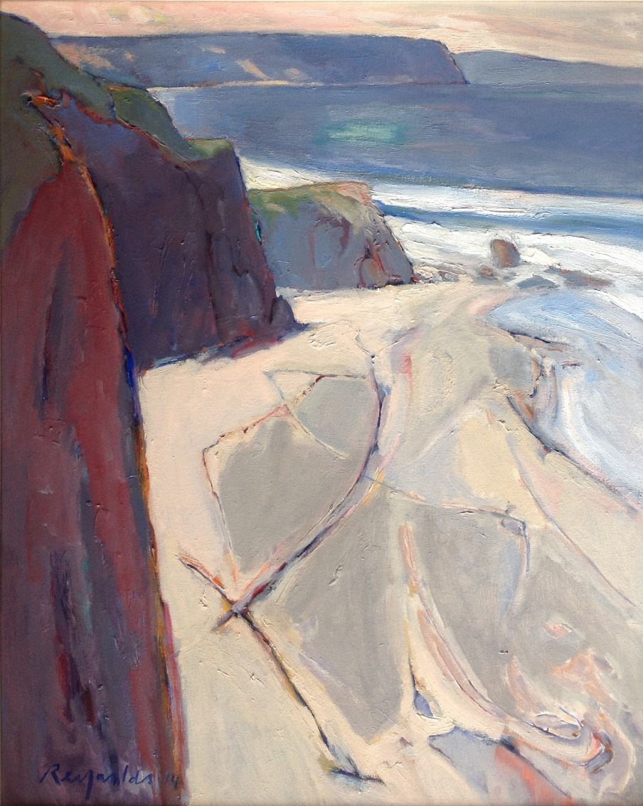 Oil Painting by Ron Reynolds titled Coastline near Apollo Bay