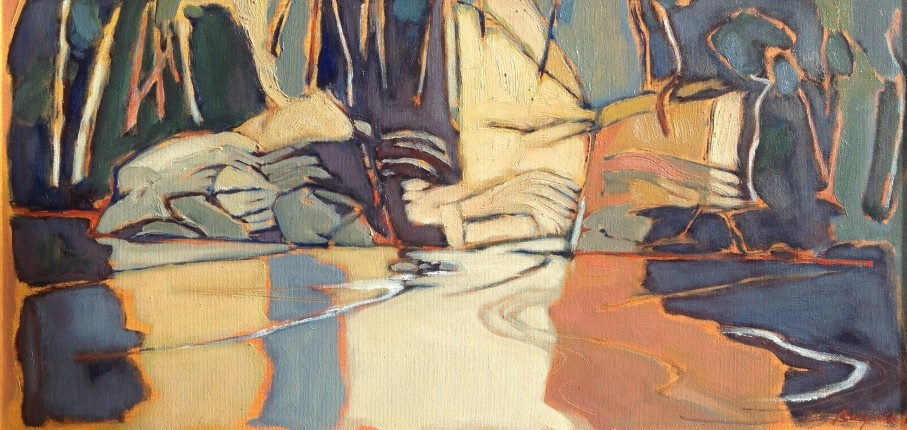 Oil Painting by Ron Reynolds titled Passing of Time Warrandyte
