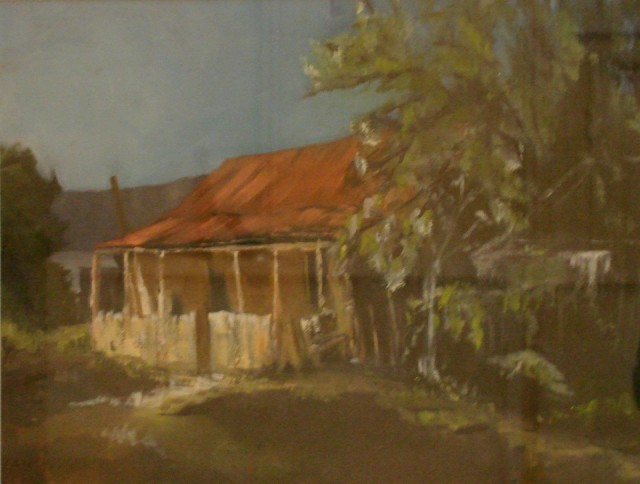 Oil Painting by Susan Lanchester titled The Miner's Cottage