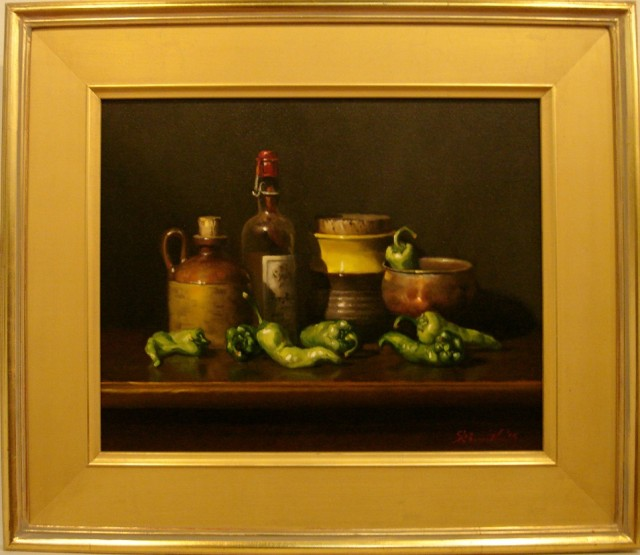 Oil Painting by Gregory R. Smith titled Green Chillies