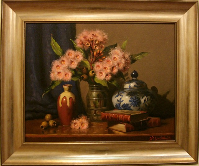 Oil Painting by Gregory R. Smith titled Splashes of Pink Ficifolia