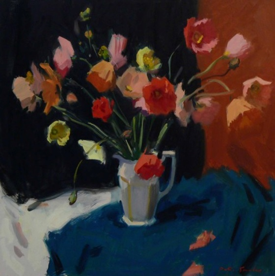 Oil Painting by Peter Smales titled Floral Still Life