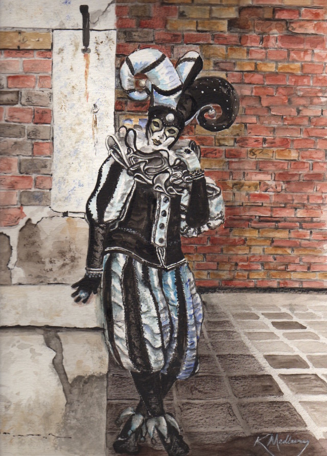 Painting by Kathy Medbury titled The Jester