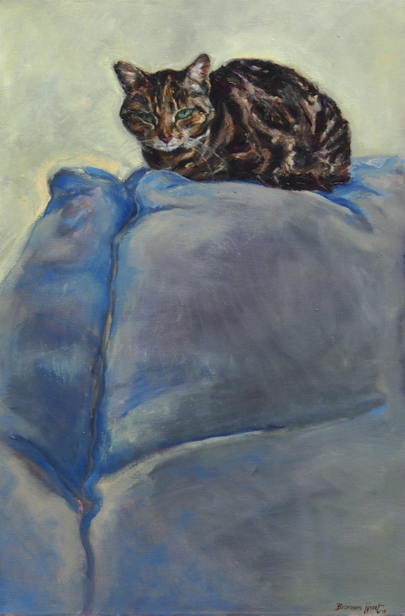 Oil Painting by Bronwen Hunt titled King of the Couch