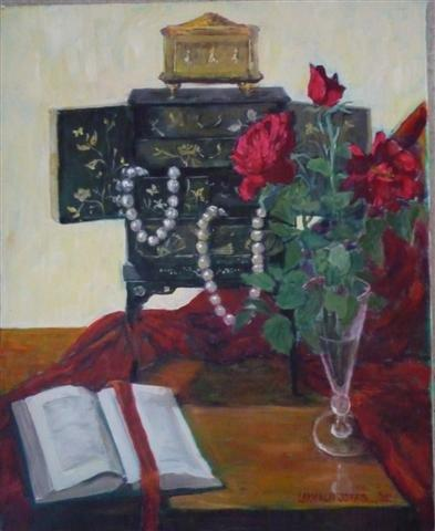 Oil Painting by Mary Larnach-Jones titled Kym's Treasures