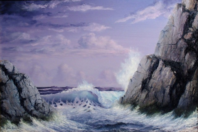 Oil Painting by JOHN COCORIS titled CRASHING WAVE