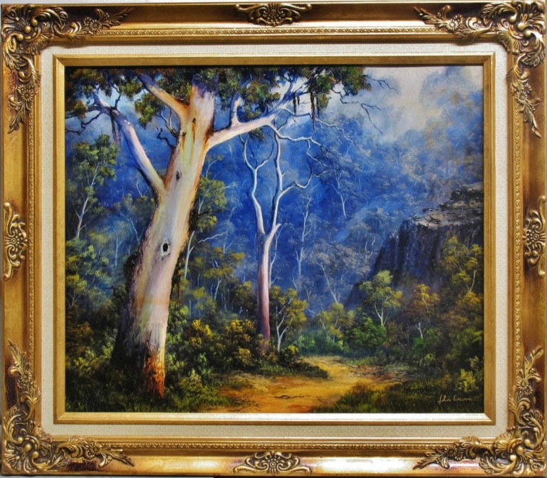 Oil Painting by JOHN COCORIS titled DOWN IN THE VALLEY