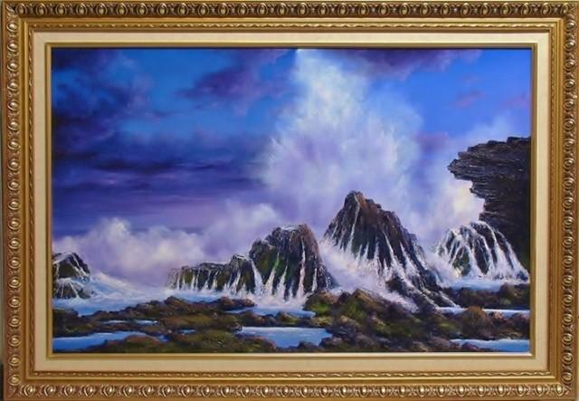 Oil Painting by JOHN COCORIS titled SEA SPRAY