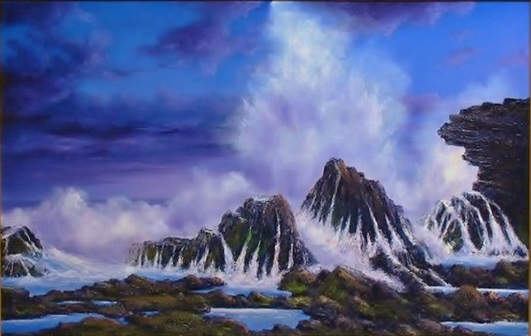 Oil Painting by JOHN COCORIS titled SEA SPRAY