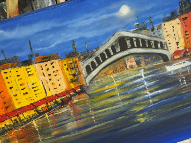 Oil Painting by Belinda Jane McDonnell titled Romantic Waterways of Venice