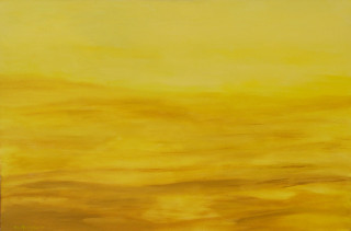 An Acrylic painting by ALEX MORTENSEN in the Contemporary style  depicting Landscape Sunrise and Sunset with main colour being Yellow and titled YELLOW
