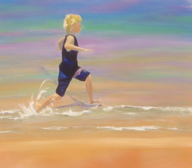 Acrylic Painting by Janette Humble titled Summer Splash
