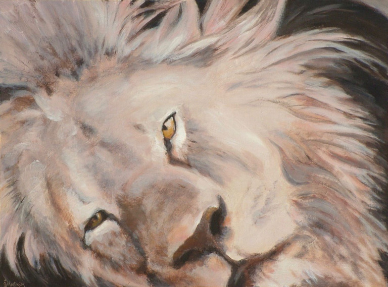 Acrylic Painting by EKATERINA MORTENSEN titled CECIL