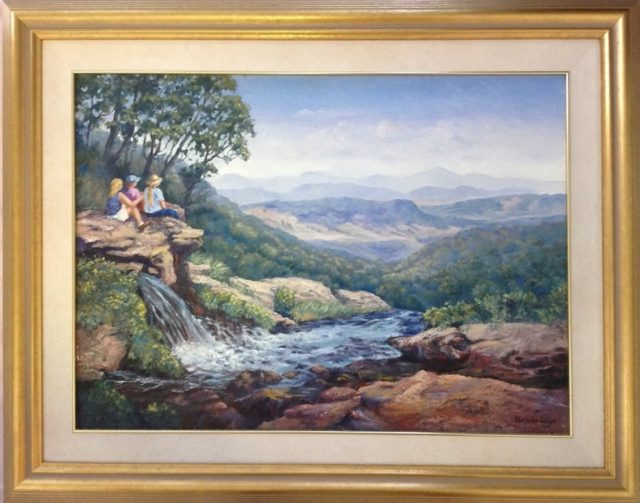 Oil Painting by Maureen Bainbridge titled Young Explorers - O'Reileys