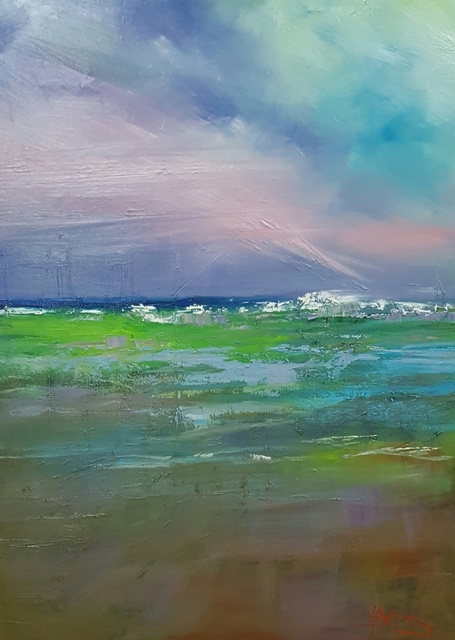 Oil Painting by Kathy Karas titled On the Horizon