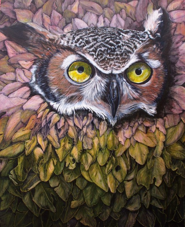 Acrylic Painting by Angela Parr titled Who's There?