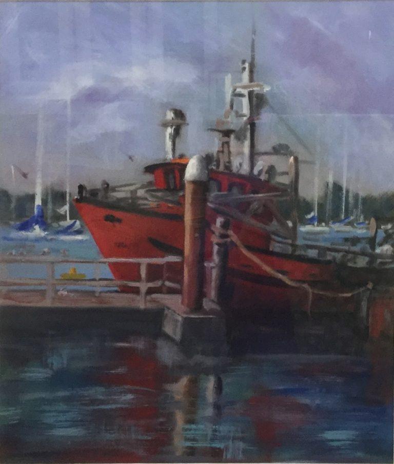 Oil Painting by Lyn Ellis titled Nimrod - Queenscliff  Harbour