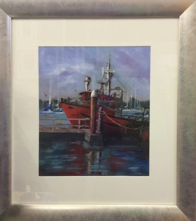 Acrylic Painting by Lyn Ellis titled Nimrod - Queenscliff  Harbour
