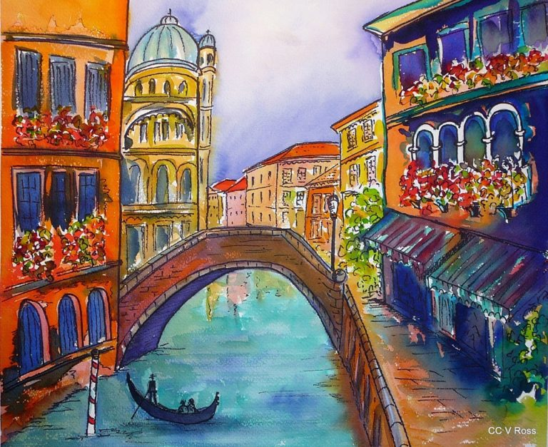 Painting by Valarie Ross titled Venice
