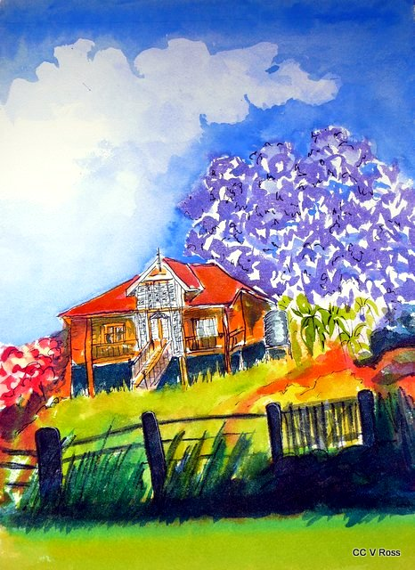 Painting by Valarie  Ross titled Old Queenslander