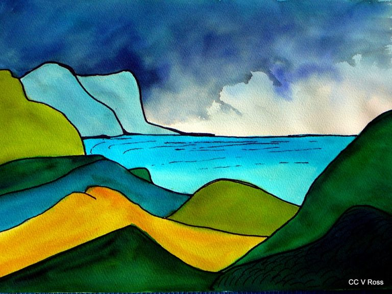 Painting by Valarie Ross titled Landscape 2