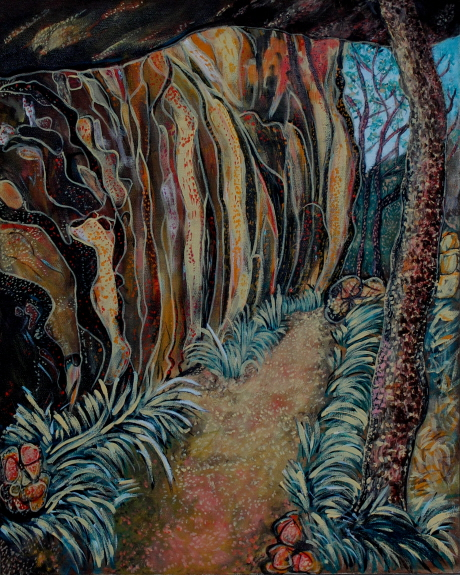 Acrylic Painting by Julie Rooney titled Hawkings Walking Trail Magnetic Island