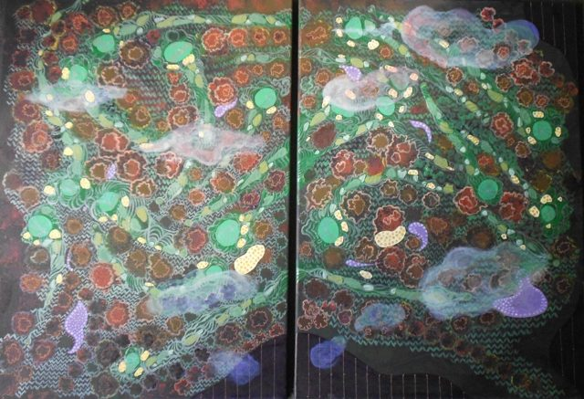 Acrylic Painting by Pippa Newby titled Diptych