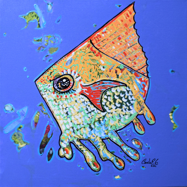 Oil Painting by Camilo Esparza titled Jakey fish