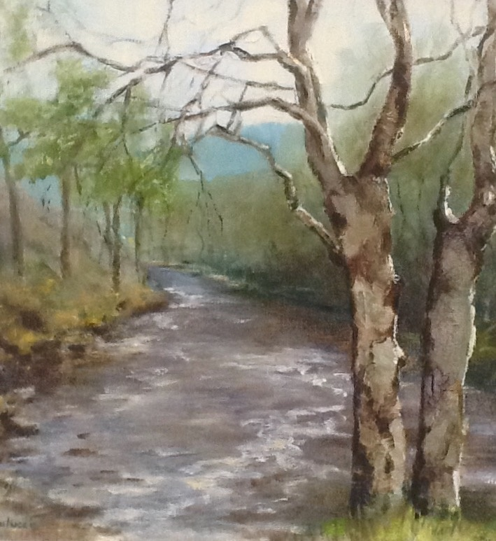 Painting by Helen Paulucci titled Scottish landscape