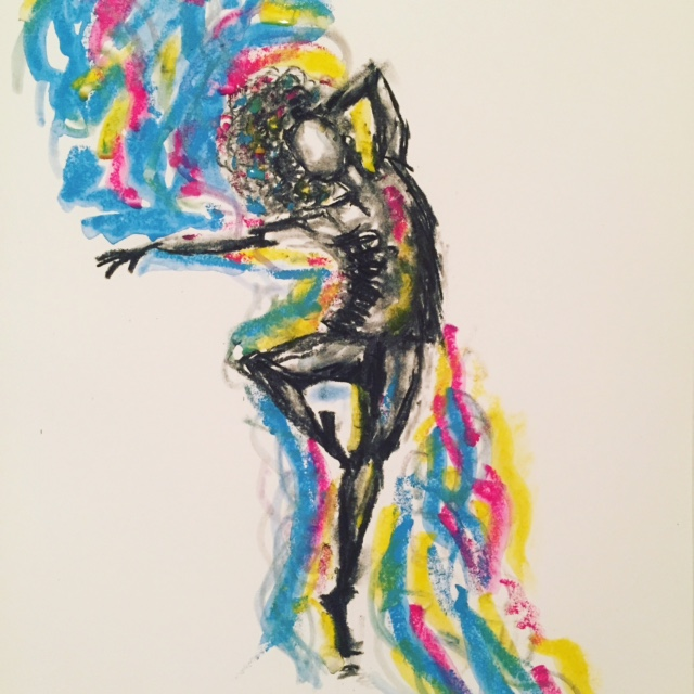 Charcoal Painting by Saki Itoh titled Dancer